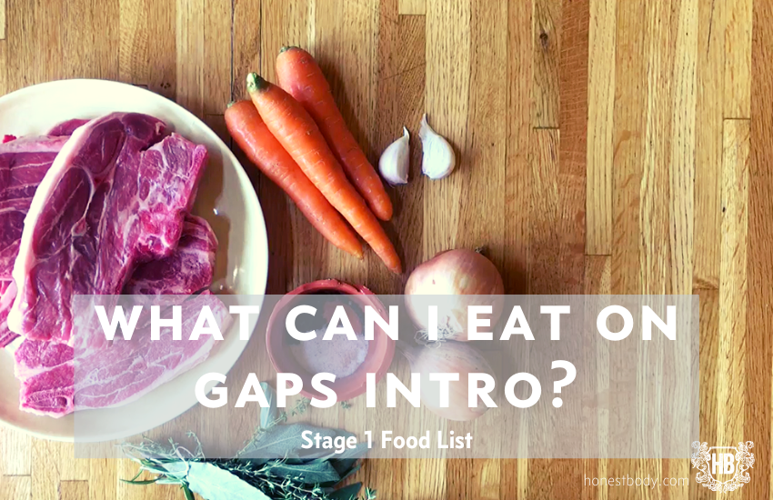 GAPS Intro Diet - Stage 1