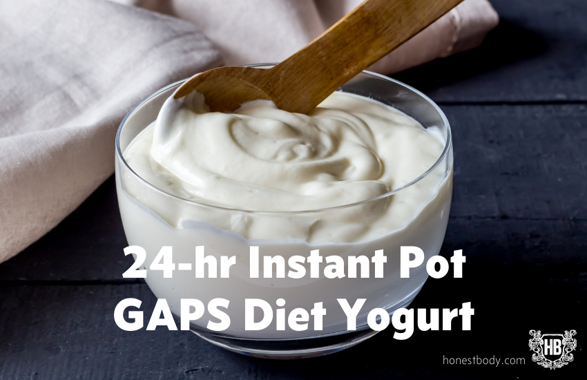 Instant Pot GAPS Diet Yogurt